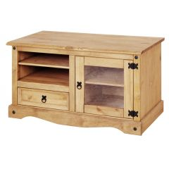 Corona Entertainment TV Unit - Mexican Solid Pine