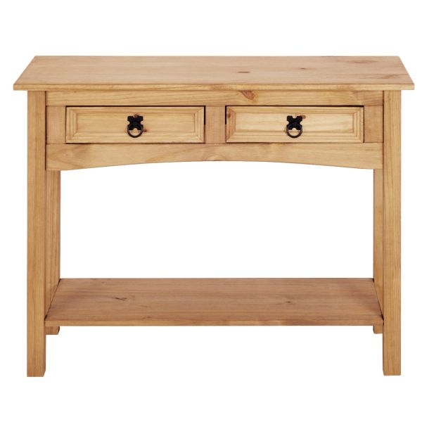 Corona 2 Drawer Console Table - Mexican Solid Pine