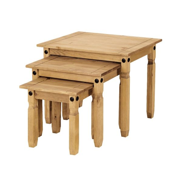 Corona Nest of Tables - Mexican Solid Pine