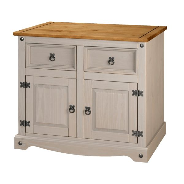 Corona Grey 2 Door 2 Drawer Sideboard - Mexican Solid Pine