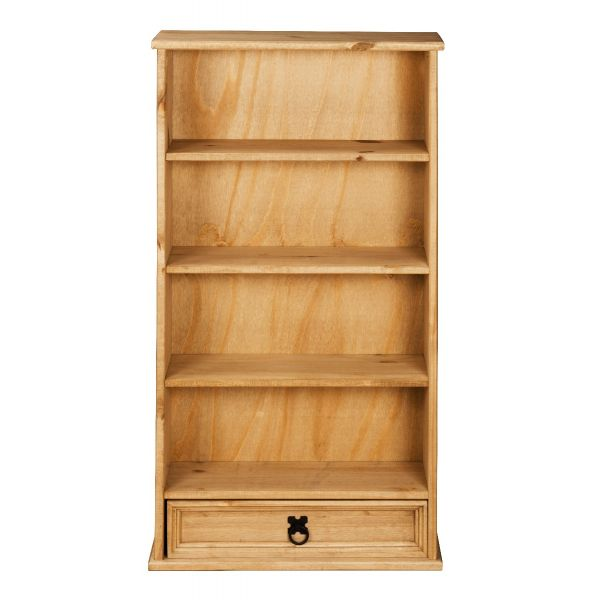 Corona 1 Drawer DVD Rack / Storage Bookcase - Mexican Solid Pine