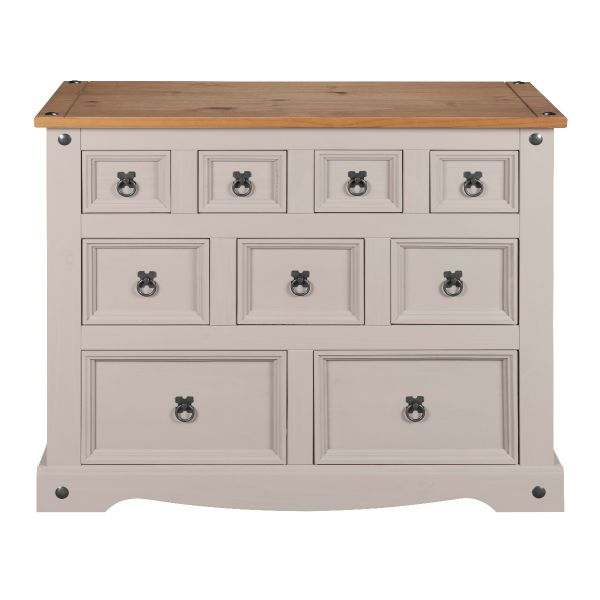 Corona Grey Wax Merchant Chest of Drawers - Mexican Solid Pine